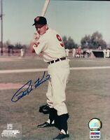 Ralph Kiner Signed 8X10 Photograph Autograph Indians Posing Bat PSA/DNA COA Auto
