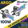 2x H4 Phare Ampoules Xenon Gas Plasma Ultra Blanc Voiture Avant Phare 12v