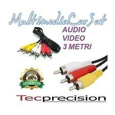 Tec Precision Cavo RCA Audio Video 3 Metri AV3 Prolunga Segnale Hi Fi Auto
