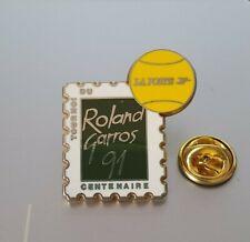 1 pin's  La poste tournoi du centenaire Roland Garros 1991 timbre  PTT