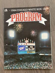 4/6/1984 Opening Day, Detroit Tigers vs Chicago White Sox Program, Unscored!