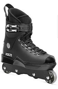 Roces Mens M12 UFS Aggressive Street Italian Inline Skates Black (UK Size 8)