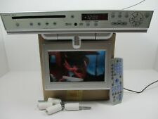 "Sharper Image Ml600 7"" Lcd Tv Dvd Cd Am Fm Radio Space Saver Under Cabinet"