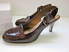 CIRCA JOAN & DAVID Women's Shoes - Dark Brown Snake Print Pumps (Sz 6.5) EUC!