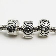 Clips Locks Beads Water Ripple Stopper Bead Fit Bracelets & Bangles Jewelry LWC