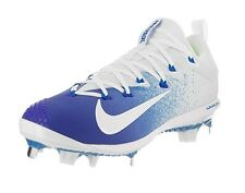Nike Men's Lunar Vapor Ultrafly Elite Baseball Cleat Racer Blue/White  Sz 10.5