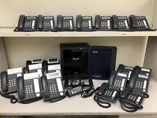 Panasonic PBX KX-TDE100 Office Phone System Voicemail 20 Phones Lot PRI Card