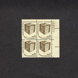 SCOTT # 1584 Early Ballot Box United States U.S. Stamps MNH - Plate Block of 4
