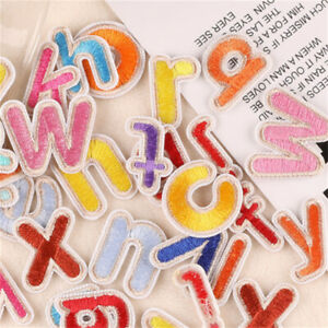 26 Mix Alphabet Patches Sew On Fabric Letters For Jeans Embellishments Decors