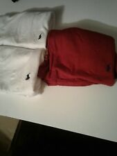 Polo Ralph Lauren classiFit Three 3 Pack Cotton V Neck Tee Shirt M white red