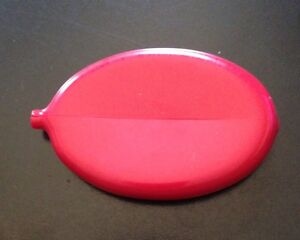 2 COIN WALLETS RUBBER SQUEEZE OVAL PURSE MENS WOMENS MONEY HOLDER - Made in USA