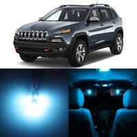 14 x ICE BLUE Interior LED Lights Package For 2014 - 2018 Jeep Cherokee  +TOOL