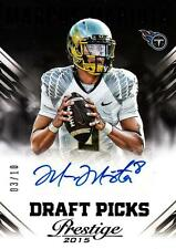 2015 Prestige Draft Picks Autographs Black #17 Marcus Mariota Ser# 3/10 SP Titan