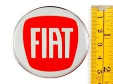 "FIAT *4 x NEW* RED Emblems 55mm (2 3/16"") WHEEL CENTER CAP STICKERS 3D DECALS"
