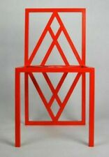 Unique Red Metal Chair Symbol of power and protection