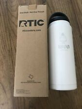 RTIC Cooler 26 OZ 1800 Coconut Tequila Logo White Water Bottle NIB