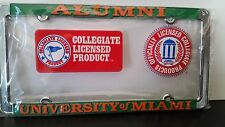 Miami Hurricanes Alumni Metal License Plate - Officially Licensed - Car Truck