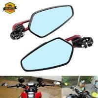 "7/8""Handle Bar End Motorcycle Rearview Side Mirror For Suzuki Honda Yamaha"