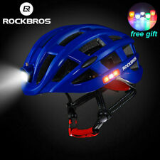 RockBros Cycling Night Safety Riding Ultralight Helmet Size 57-62CM USB Blue