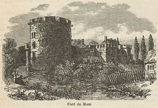C8556 Fort de Ham - Stampa antica - 1892 Engraving