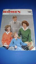 Robin Family Sweaters Knitting Pattern 1061