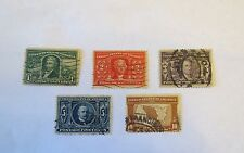 SCOTT #323-327 1C-10C 1904 LOUISIANA PURCHASE USED