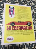 VINTAGE COX LA CUCARACHA SLOT CAR  POSTER PAGE VERY COOL COLOR COLLECTABLE AD!!