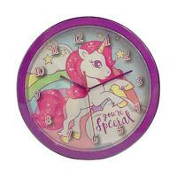 Reloj de Pared Oficial Especial Unicornio Para Habitación Infantil 3239