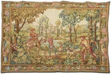 ANTIQUE FRENCH 'RETOUR DE CHASSE' HANGING TAPESTRY