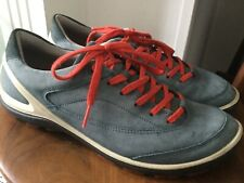 Ecco BIOM blue/ grey suede red lace ups  Trainers Size 39 UK6