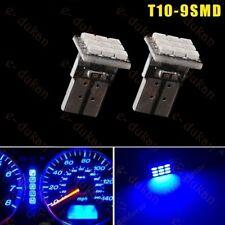 9 SMD 5050 LED T10 TOP WEDGE PARKING INDICATOR LIGHT CAR BIKE - BLUE- 2PC