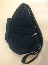 Ameribag Healthy Back Bag Navy Blue Sling Nylon Travel Organizer Shoulder Pack