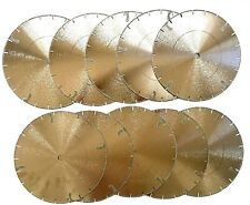 """10PK 10"""" ELECTROPLATED Diamond blade for marble, engineered stone and travertine"""
