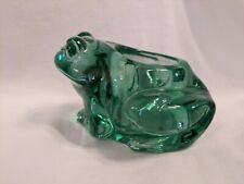 Indiana Glass Green Frog Votive Candle Holder