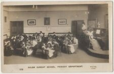 Salem Sunday School Primary Department, Hunslet, Leeds RP Postcard B866
