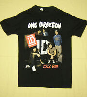 One Direction Up All Night 2012 Concert Tour T-Shirt Black size S