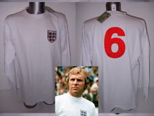 England 1966 Moore Retro Shirt Jersey BNWT XL West Ham Football Cotton L/S Home