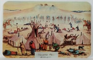 Wounded Knee Massacre Art by Andrew Standing Soldier Postcard R16