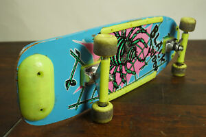 80er Vintage Skateboard Contrix Board Plate Neon Yellow Iconic Classic 90er