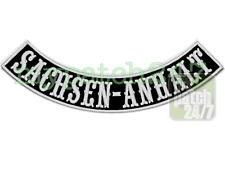 Aufnäher,BikerPatch -SACHSEN-ANHALT- Bogen unten 30cm, Bottom Rocker,Kutte,MC,1%