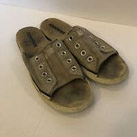 Converse Slides Sandals Tan Men's 9.5 Womens 8.5