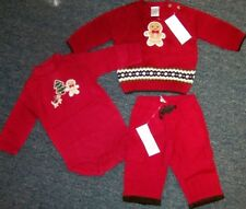 Pant Sweater Set Red Gymboree 3pc Holiday Cotton Baby Boy 3-6 mo New