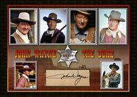 John Wayne - SIGNED ORIGINAL A4 PHOTO PRINT MEMORABILIA