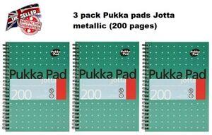 3 x Pukka Pad A5 Business School Metallic Range Jotta Notebook 200 page JM021