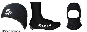 Zimco Cycling Super Roubaix Thermal Skull Cap Head Balaclava Shoe Cover Combo