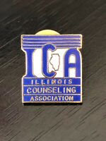 Collectible Vintage ICA Illinois Counseling Colorful Metal Pin Back Lapel Pin