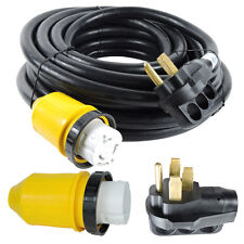 RV Power Cord 50 ft 50 amp With Rain Proof Twist Lock Connector, 50 Foot / 50Amp