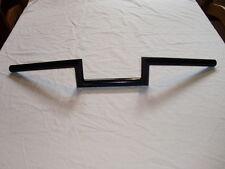 "7/8"" Z Shorty barras Manillar en Negro Hecho a medida para Tri BSA Yam Suz etc."