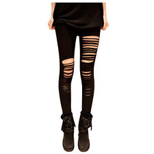 PunkJewelry Fashion Tattoo Leggings Ripped ZERRISSEN Look EINHEITSGRÖSSE