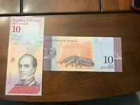 VENEZUELA Replacement Z Note 2018 NEW 10 BOLIVARES SOBERANOS UNC